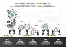 Design d'entreprise de vecteur d'Infographics Photos stock