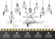 Design d'entreprise de vecteur d'Infographics Photographie stock