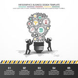 Design d'entreprise de vecteur d'Infographics Photo stock
