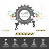 Design d'entreprise de vecteur d'Infographics Photographie stock libre de droits