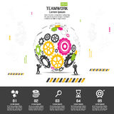 Design d'entreprise de vecteur d'Infographics Photos libres de droits