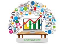 Design d'entreprise social de communication de réseau Illustration Stock