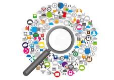 Design d'entreprise social de communication de réseau Illustration de Vecteur