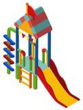 Design 3D für buntes Dia Stockbild