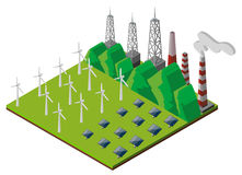 Design 3D für Kraftwerk Lizenzfreie Stockfotos