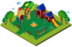Design 3D für Spielplatz Stockbilder