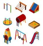 Design 3D für verschiedene Spielstationen im Spielplatz Lizenzfreie Stockbilder