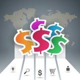 Design 3D Infographic Abstrakte Abbildung 3d Lizenzfreie Stockfotografie