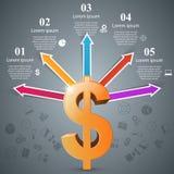 Design 3D Infographic Abstrakte Abbildung 3d Lizenzfreies Stockfoto