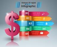 Design 3D Infographic Abstrakte Abbildung 3d stock abbildung