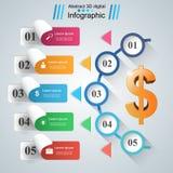 Design 3D Infographic Abstrakte Abbildung 3d Stockbild