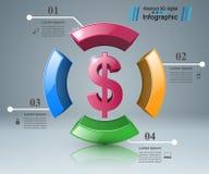 Design 3D Infographic Abstrakte Abbildung 3d Stockfotografie
