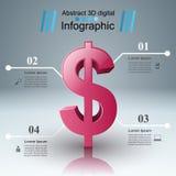 Design 3D Infographic Abstrakte Abbildung 3d Lizenzfreie Stockbilder