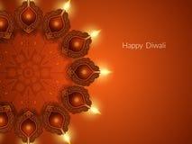 Design de carte élégant pour le festival de diwali Photos libres de droits