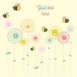 Design de carte abstrait avec des fleurs Photos stock