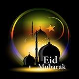 Design de carte abstrait de célébration pour Eid Mubarak Photo libre de droits