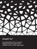 Design de carte avec le modèle noir et blanc abstrait Photo stock