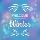 Design de carte bienvenu d'hiver Image libre de droits
