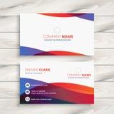 Design de carte coloré moderne d'affaires illustration de vecteur