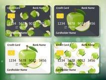 Design de carte de crédit illustration libre de droits