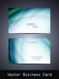 Design de carte d'affaires de vecteur Photographie stock libre de droits