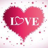 Design de carte d'amour, illustration ENV 10 de vecteur Photographie stock