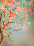 Design de carte d'arbre d'amour. ENV 10 Photographie stock