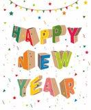 Design de carte de bonne année Photographie stock