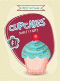 Design de carte de calibre, de bannière, d'insecte ou de menu de petit gâteau Photo libre de droits