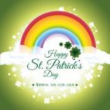 Design de carte de jour de patricks de St, illustration de vecteur Photos stock