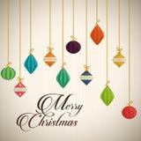 Design de carte de Joyeux Noël Images stock