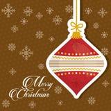 Design de carte de Joyeux Noël Photos libres de droits