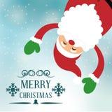 Design de carte de Joyeux Noël Photo stock