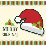 Design de carte de Joyeux Noël Photo libre de droits