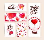Design de carte de mémoire de félicitation de Saint Valentin Photos libres de droits