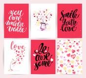 Design de carte de mémoire de félicitation de Saint Valentin Illustration Stock
