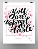 Design de carte de mémoire de félicitation de Saint Valentin Photo stock