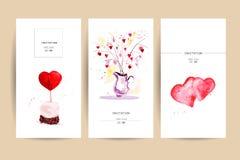 Design de carte de mémoire de félicitation de Saint Valentin Photographie stock libre de droits