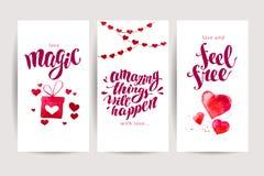 Design de carte de mémoire de félicitation de Saint Valentin Illustration Libre de Droits