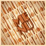 Design de carte de menu de restaurant Image libre de droits