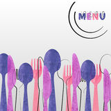 Design de carte de menu de restaurant Photo libre de droits