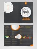 Design de carte de menu de restaurant de deux pages Photos libres de droits