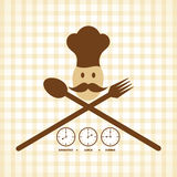 Design de carte de menu de temps de déjeuner et de dîner de petit déjeuner Photos stock