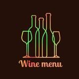 Design de carte de menu de vin Photo libre de droits
