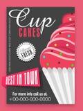 Design de carte de menu pour des petits gâteaux Image libre de droits