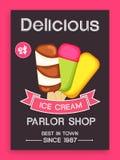 Design de carte de menu pour la crème glacée  Image libre de droits