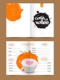 Design de carte de menu pour les restaurants et le café illustration stock