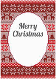 Design de carte de Noël avec le modèle détaillé Photographie stock