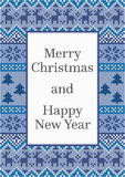 Design de carte de Noël avec le modèle détaillé Photo libre de droits