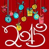 Design de carte 2015 de nouvelle année 1 Images stock